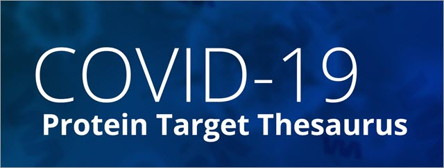 CAS COVID-19 Protein Target Thesaurus banner image