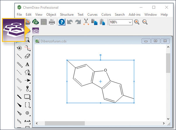 Draw structure in ChemDraw and search in SciFinder-n