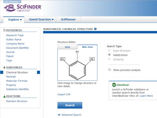 Explore in SciFinder | CAS