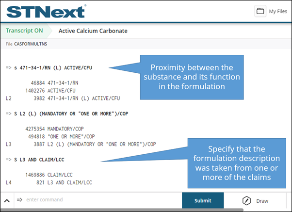 Proximity search in STNext Formulations