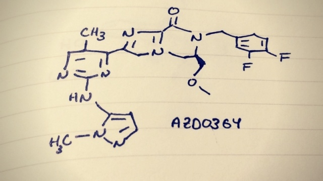hand drawing of AZD0364 molecule