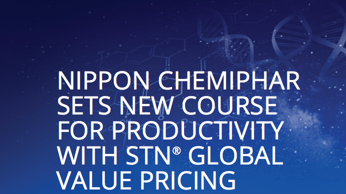 Text: Nippon Chemiphar sites new course for productivity with STN Global Value Pricing.
