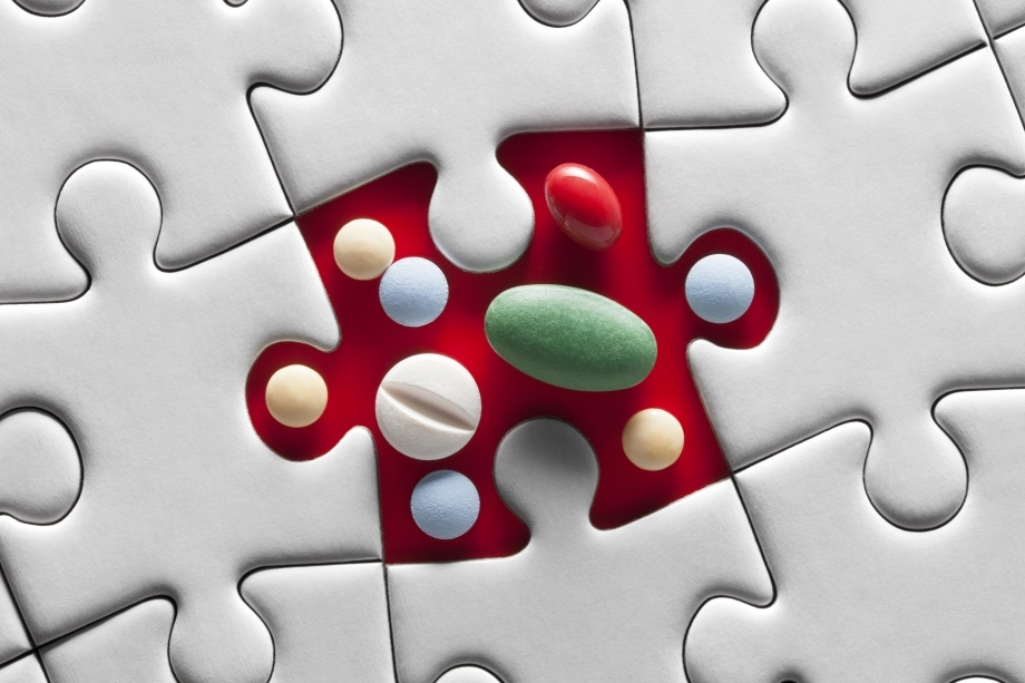 pills as missing pieces of puzzle
