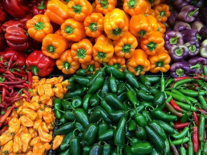 Photo of vegetables containing capsaicin